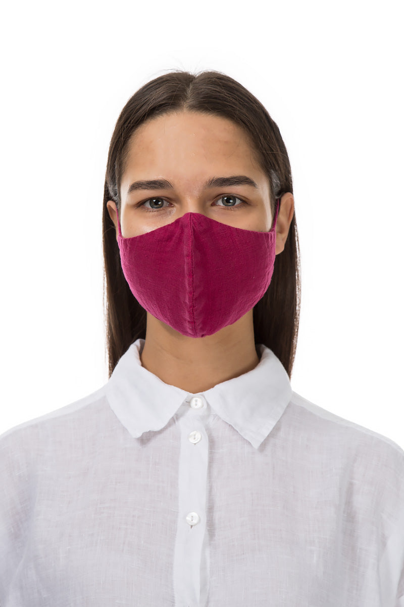 Reusable Fuchsia Protective Masks €4,95 x 20 PCS - GRIZAS | Natural Contemporary Womenswear
