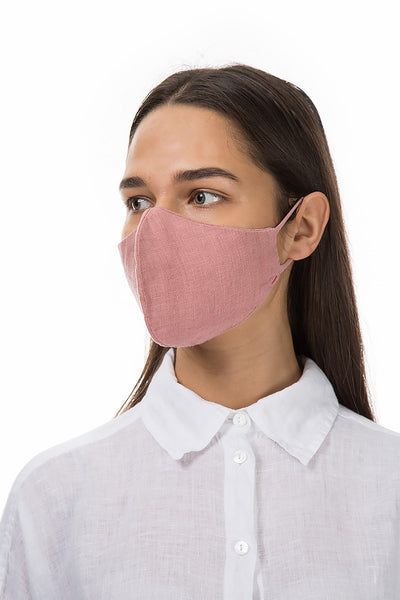 Reusable Dust Pink Protective Masks €4,95 x 20 PCS - GRIZAS | Natural Contemporary Womenswear