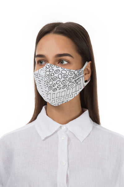 Reusable Figures Print Protective Masks €4,95 x 20 PCS - GRIZAS | Natural Contemporary Womenswear