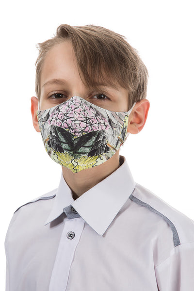 Reusable Flowers Print Face Masks For Children