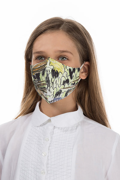 Reusable Flowers Print Protective Masks For Children €4,95 x 20 PCS - GRIZAS | Natural Contemporary Womenswear