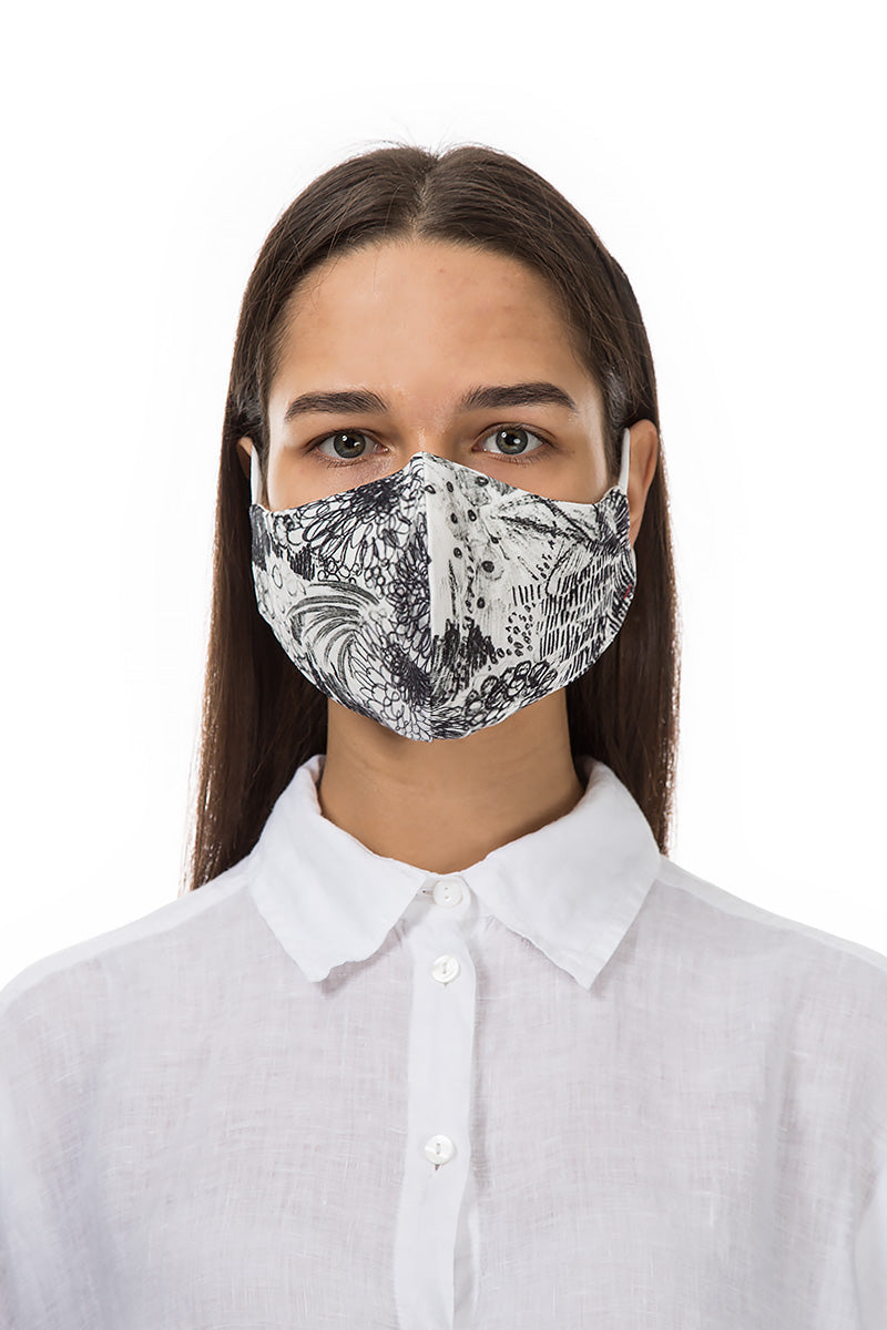 Reusable Graphical Flowers Print Protective Masks €4,95 x 20 PCS - GRIZAS | Natural Contemporary Womenswear