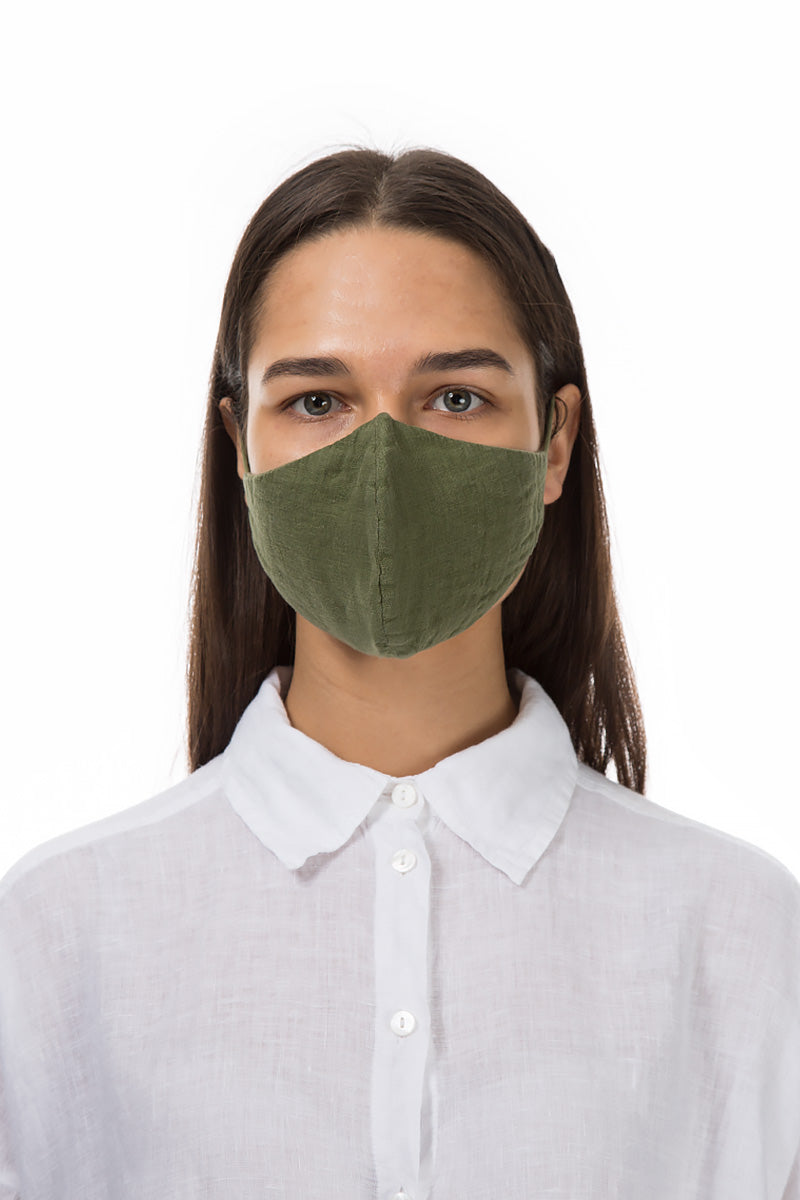Reusable Green Protective Masks €4,95 x 20 PCS - GRIZAS | Natural Contemporary Womenswear