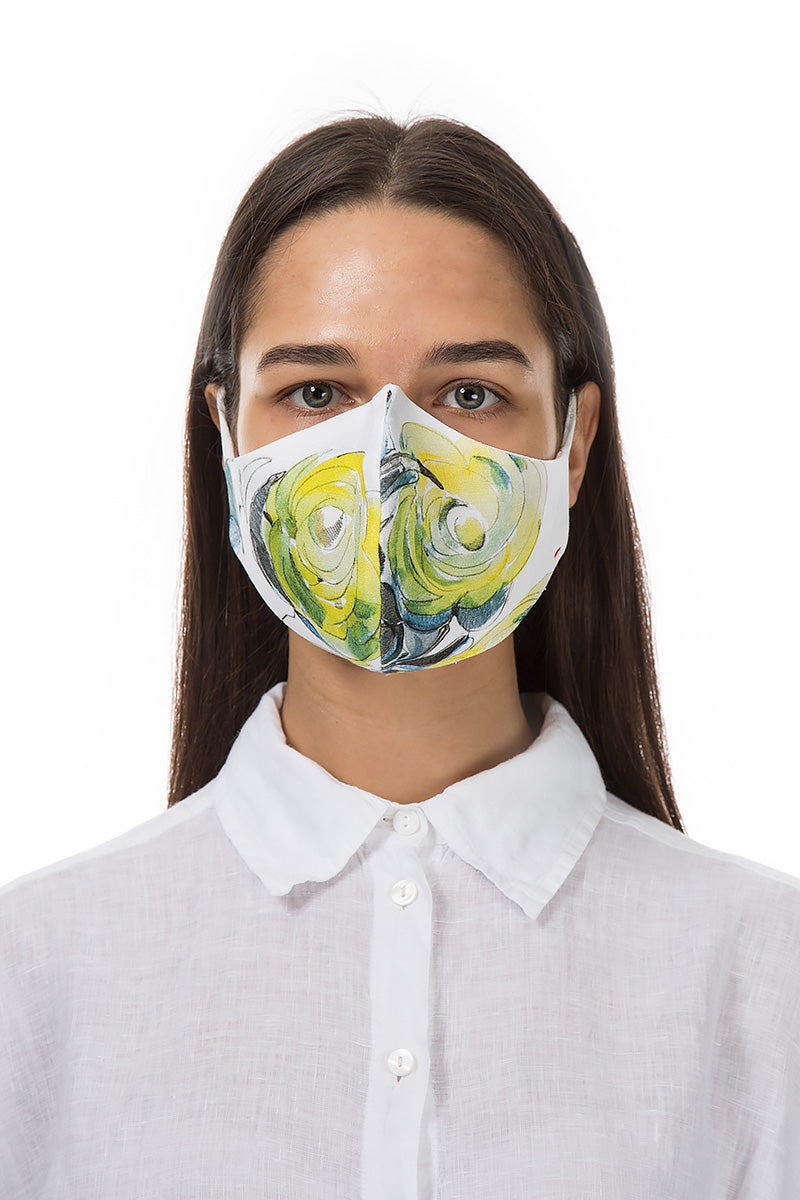 Reusable Lime Rose Print Protective Masks €4,95 x 20 PCS - GRIZAS | Natural Contemporary Womenswear