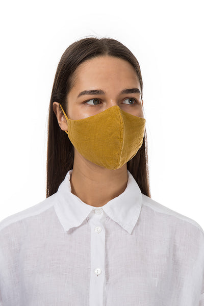 Reusable Mustard Protective Masks €4,95 x 20 PCS - GRIZAS | Natural Contemporary Womenswear