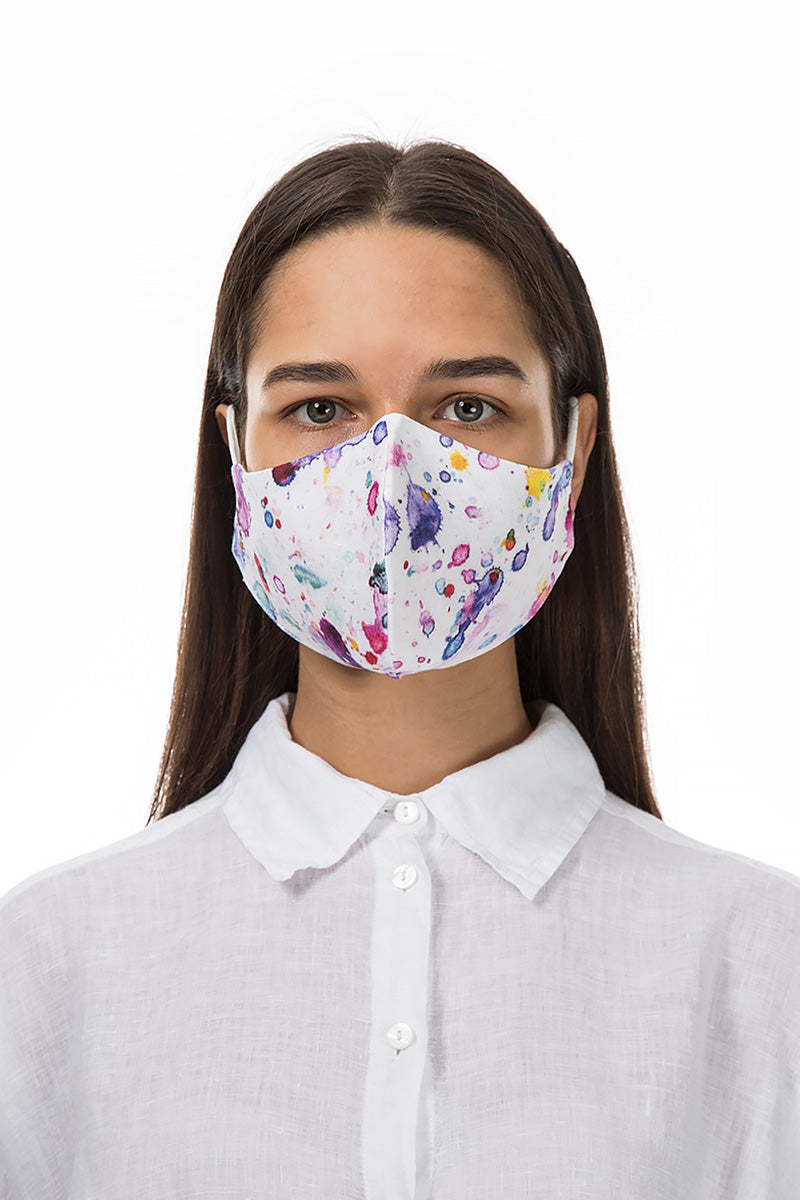 Reusable Purple Splash Print Protective Masks €4,95 x 20 PCS - GRIZAS | Natural Contemporary Womenswear
