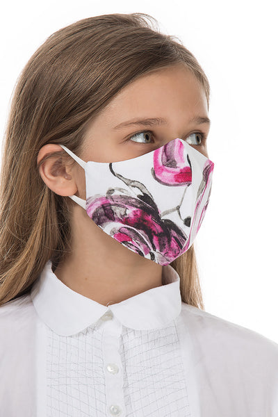Reusable Roses Print Protective Masks For Children €4,95 x 20 PCS - GRIZAS | Natural Contemporary Womenswear
