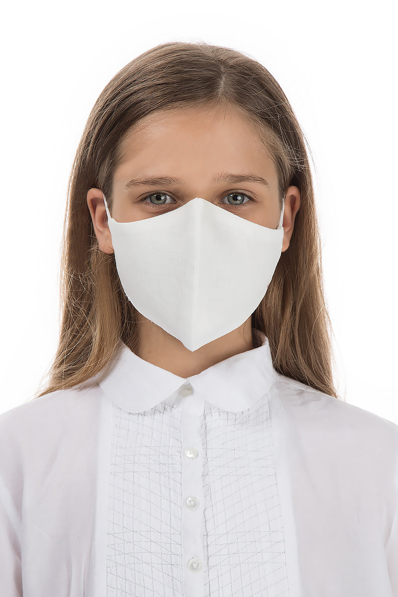 Reusable White Protective Masks For Children €4,95 x 20 PCS - GRIZAS | Natural Contemporary Womenswear