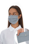 Set Of Pleated Reusable Light Grey Face Masks & Cases €14.99 x 5 Sets