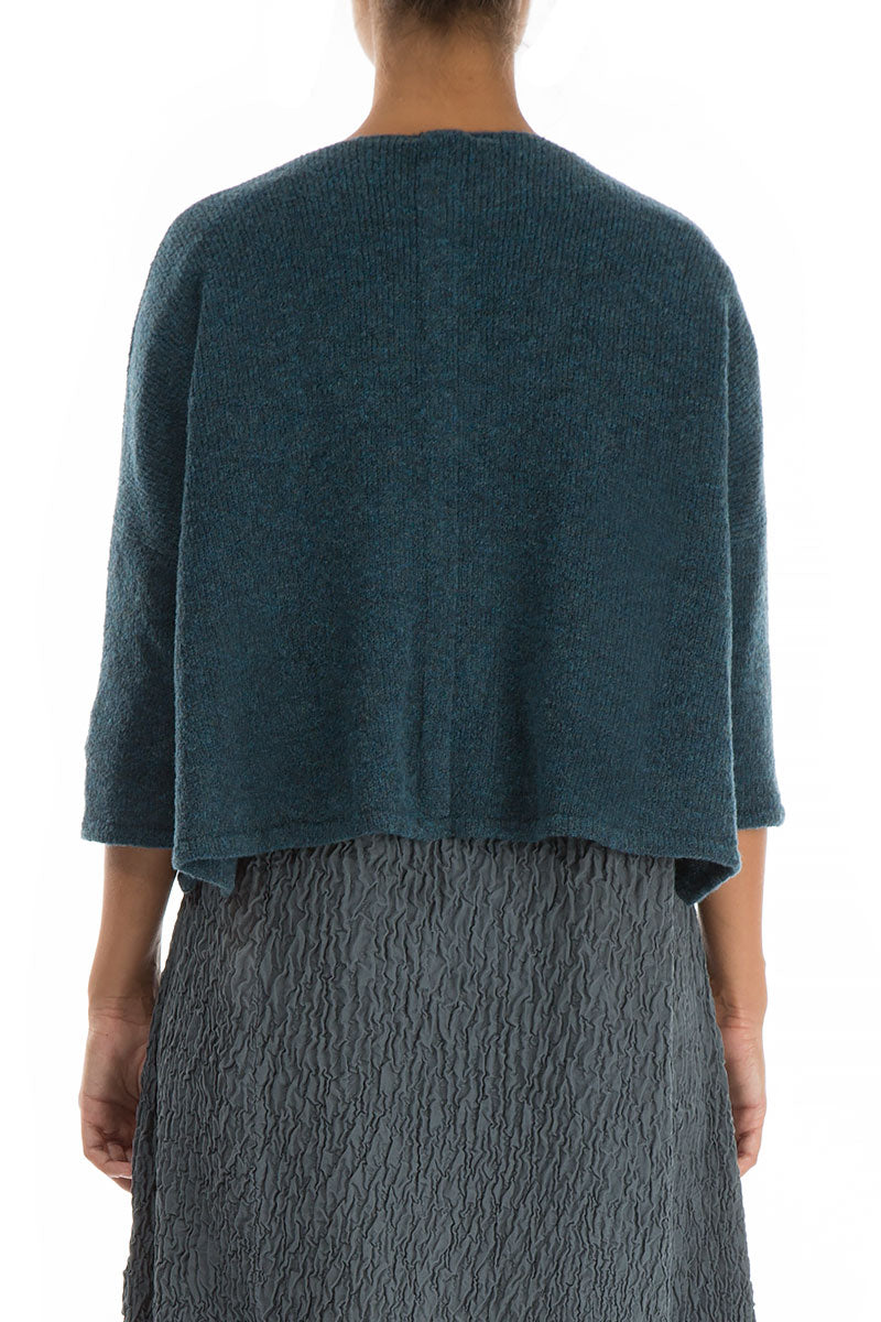 Short Blue Emerald Wool Sweater