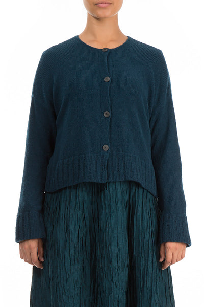 Short Dark Teal Wool Sweater