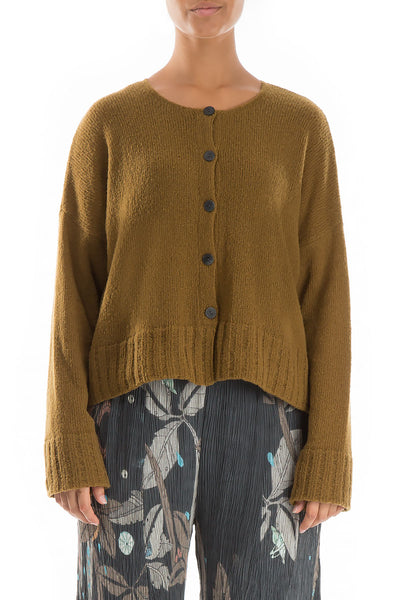 Short Mustard Wool Sweater