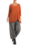 Side Pocket Saffron Wool Sweater