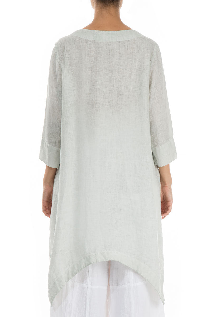 Side Pocket Washed Out Breeze Linen Tunic