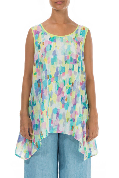Sleeveless Confetti Linen Tunic
