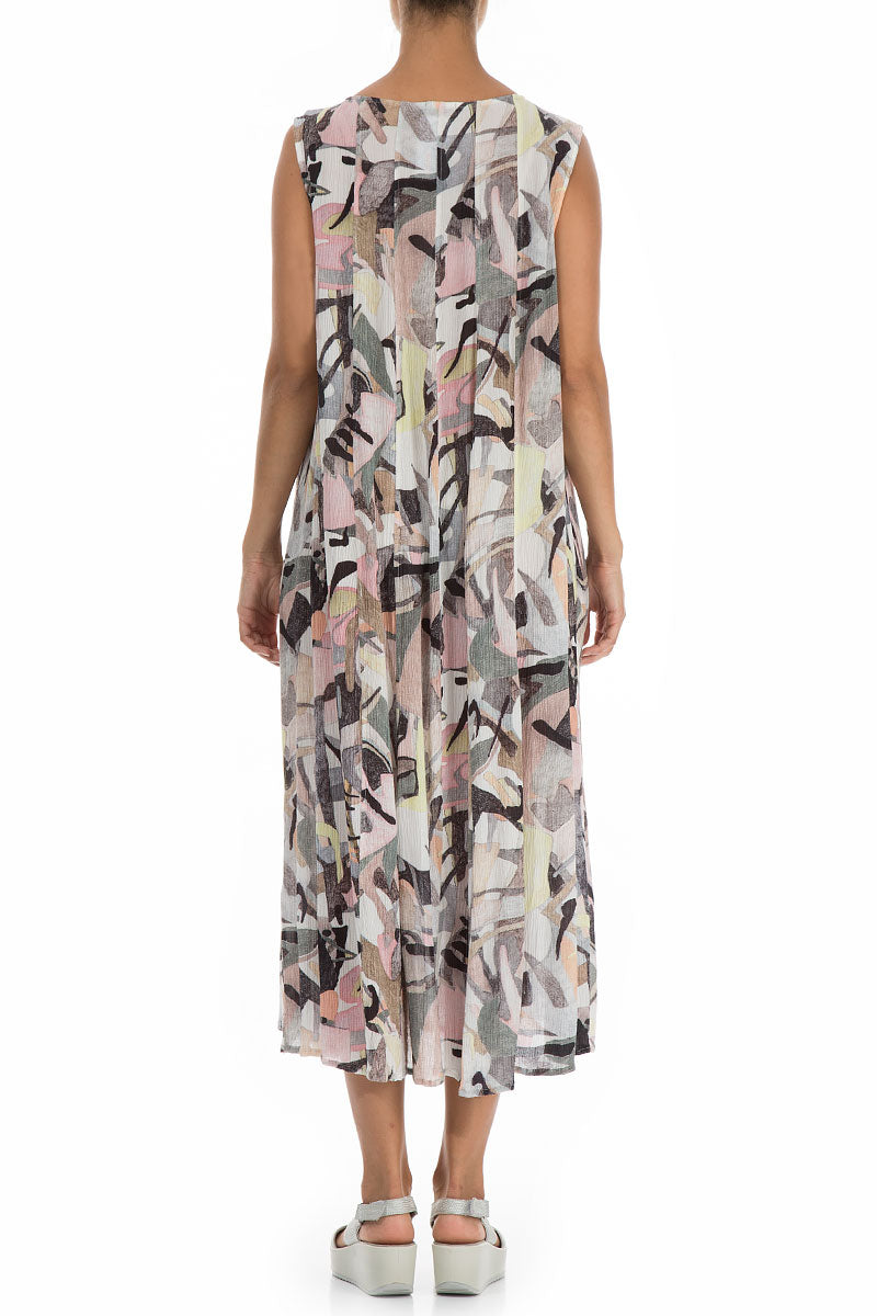Sleeveless Pastel Art Silk Viscose Dress