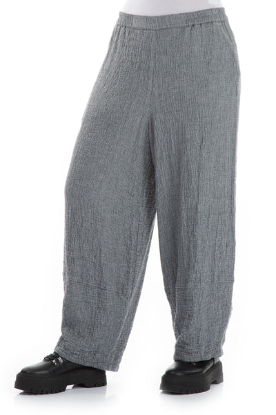 Soft Grey Wool Trousers