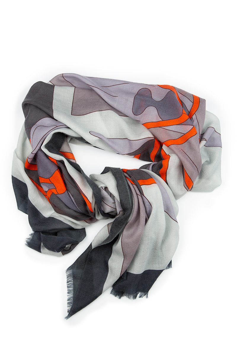Soft Printed Cashmere Scarf