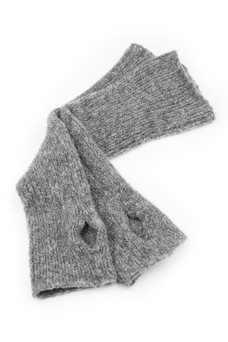 Soft Grey Wool Wrists