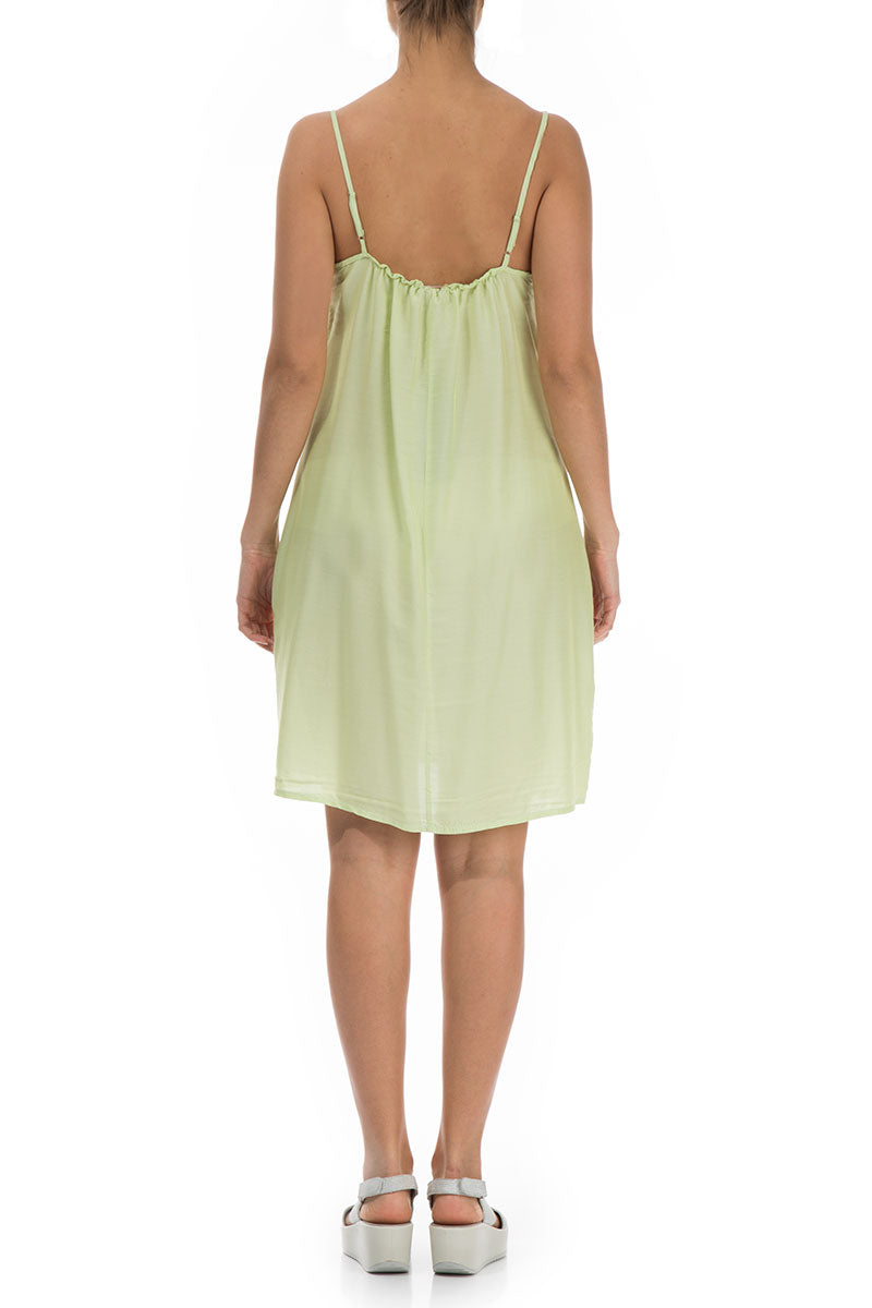 Strap Lime Silk Bamboo Night Dress