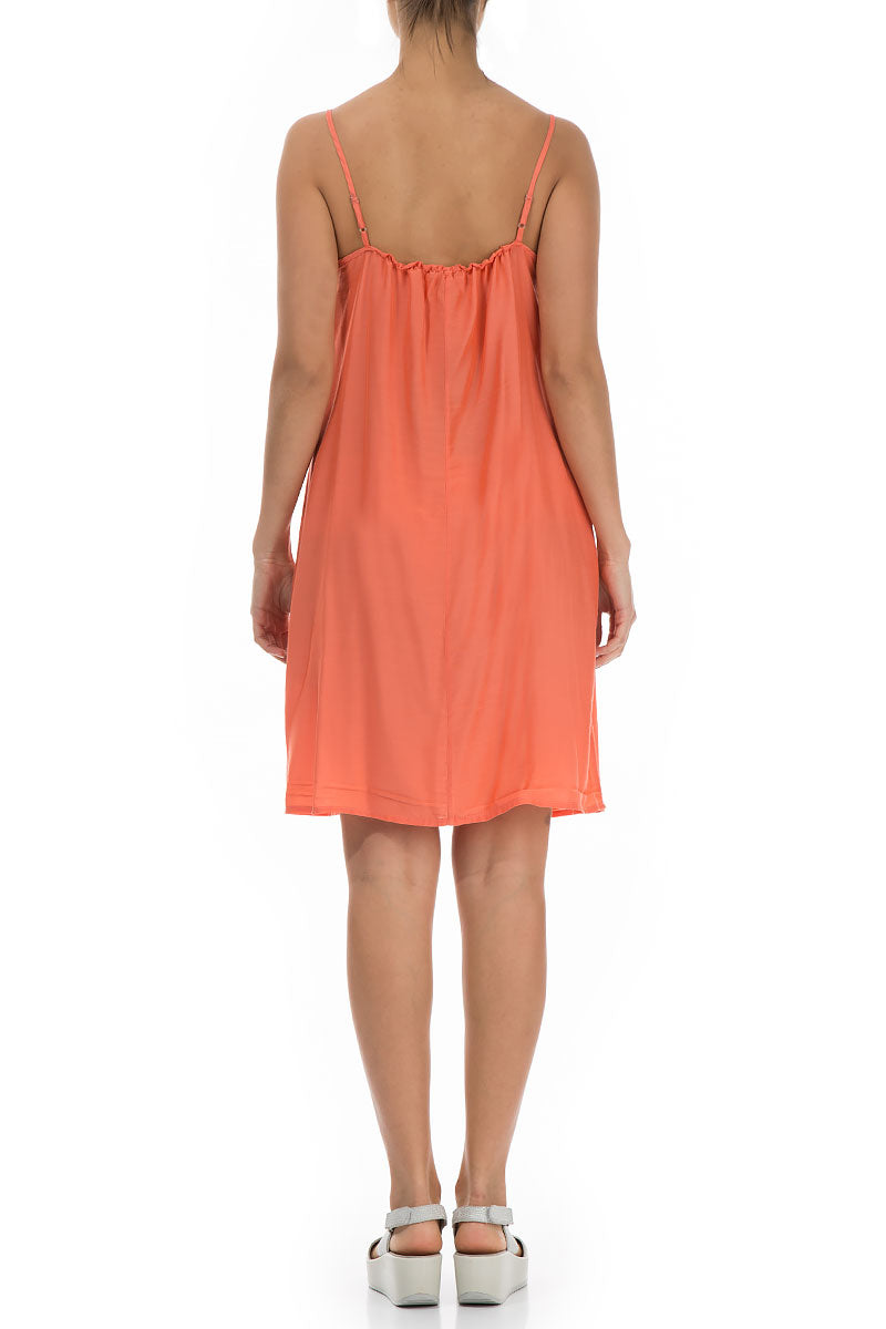 Strap New Orange Silk Bamboo Night Dress