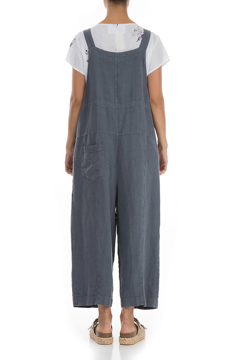 Strappy Graphite Linen Jumpsuit