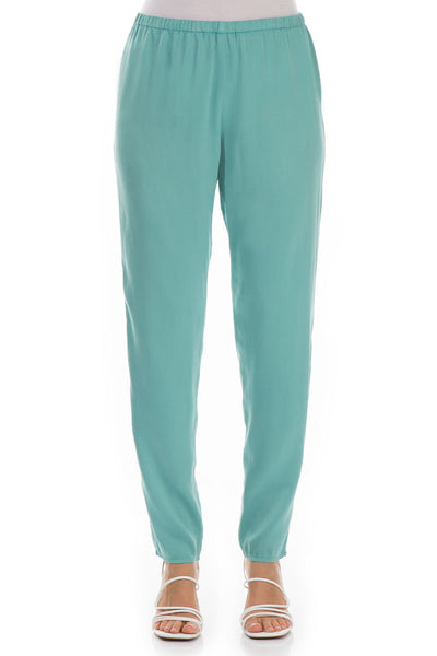 Stylish Aqua Green Silk Leggings