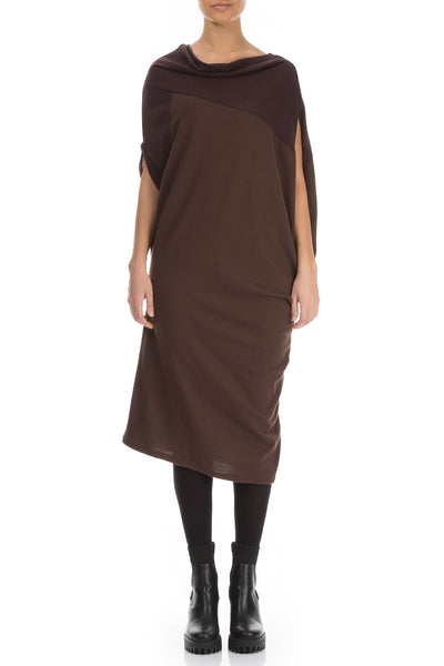 Stylish Brown Wool Dress