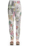 Stylish Floral Silk Leggings
