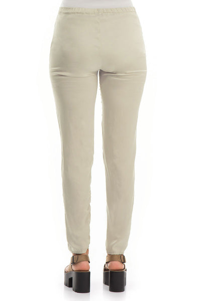 Stylish Pearl Silk Leggings