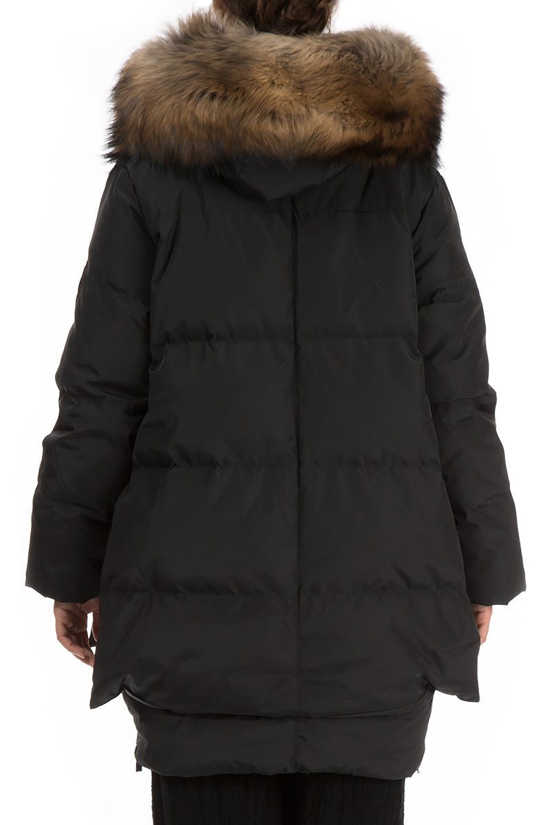 Warm Black Down Coat - GRIZAS | Natural Contemporary Womenswear