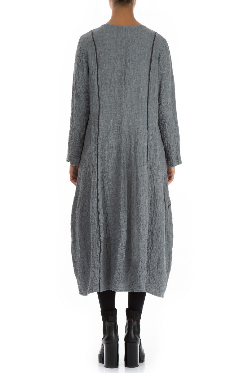 Subtle Balloon Grey Wool Dress