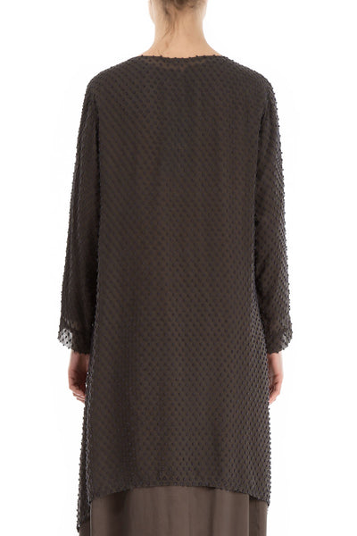 Subtle Dotty Ash Silk Tunic