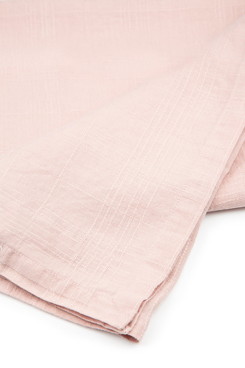 Textured Antique Rose Soft Linen Table Runner