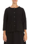 Trapeze Black Cotton Jersey Jacket