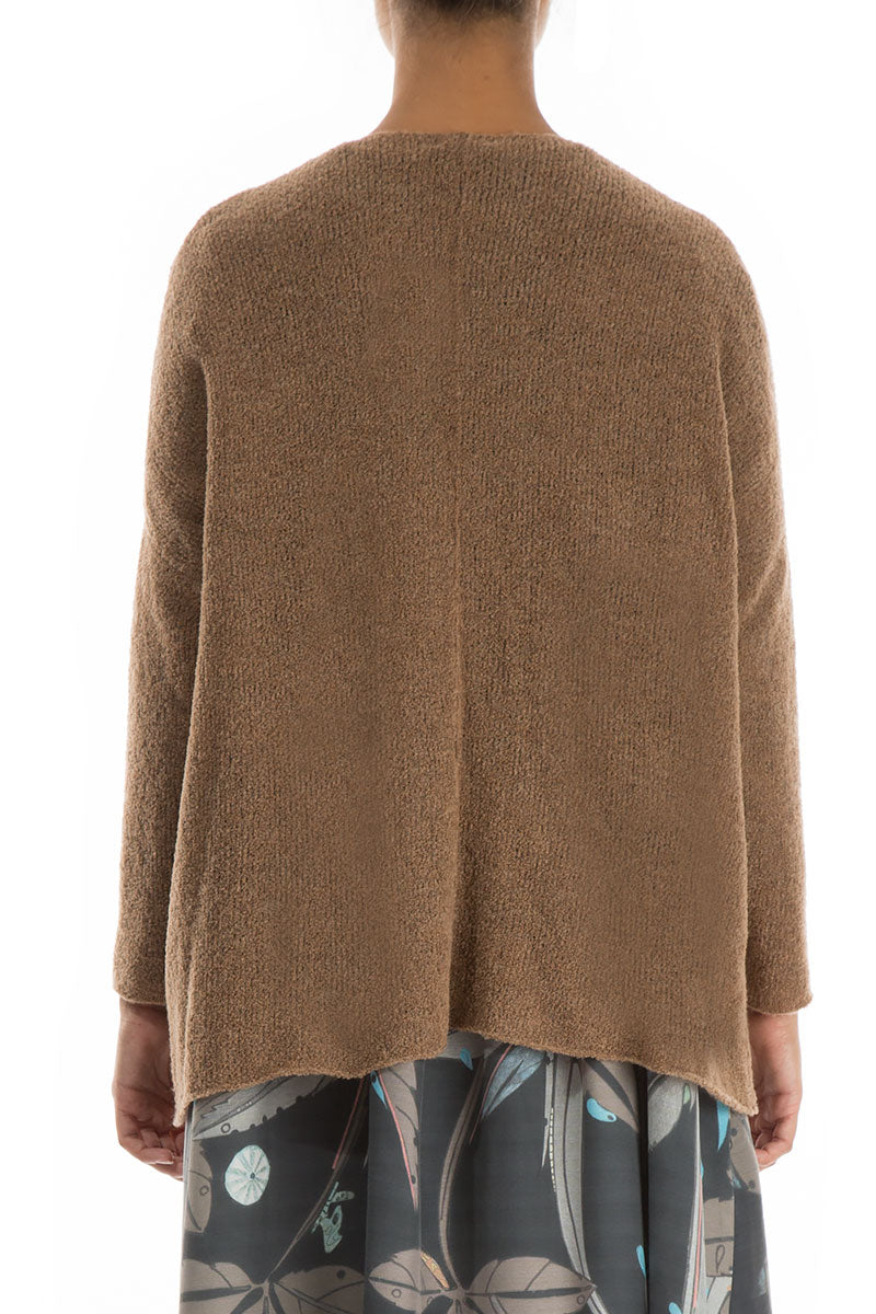 Two Pockets Caramel Wool Sweater
