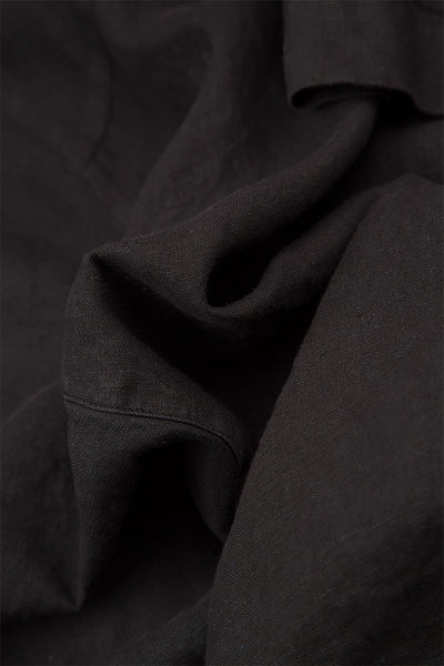 Wide Black Linen Trousers