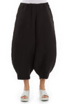 Wide Leg Black Linen Trousers