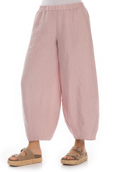 Wide Taper Antique Rose Linen Trousers