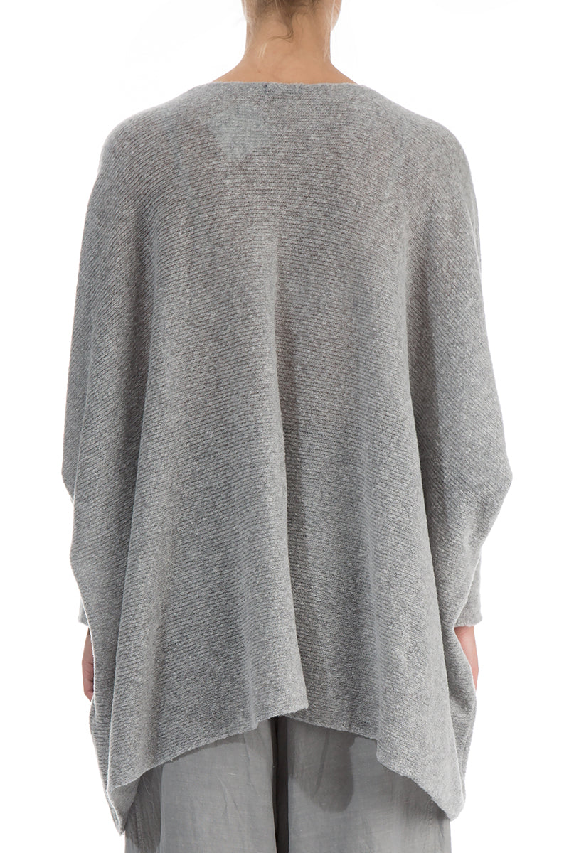 Wide Grey Wool Sweater - GRIZAS | Natural Contemporary Womenswear