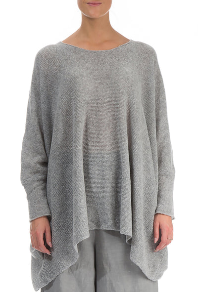 Wide Grey Wool Sweater