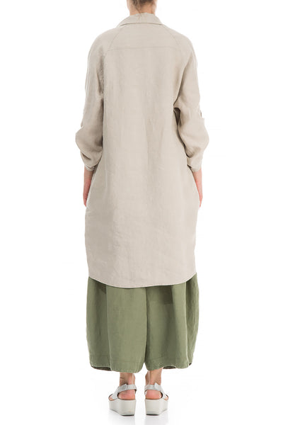 Wide Loose Natural Linen Shirt
