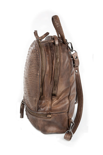 Zaino Pitone-Pelle Rum Backpack