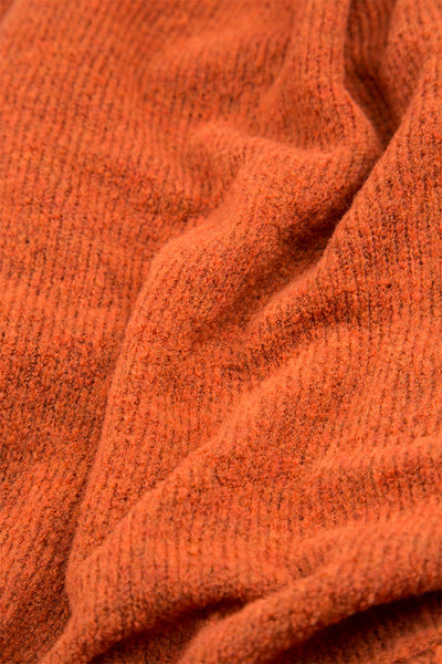 High Neck Cosy Saffron Wool Sweater
