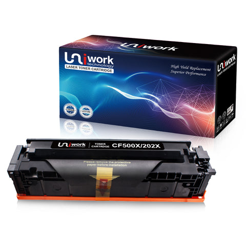 Uniwork 202X 202A Toner Cartridge Compatible for HP 202X 202A CF500X use for HP LaserJet Pro M281fdw M254dw M281dw M281cdw M280nw M281 Printer (1 Black)