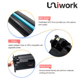Uniwork 26X Compatible Toner Cartridge Replacement for HP 26X CF226X 26A CF226A use for HP LaserJet Pro MFP M426fdw M402n M402dn M402dw MFP M426fdn Printer (1 Black)