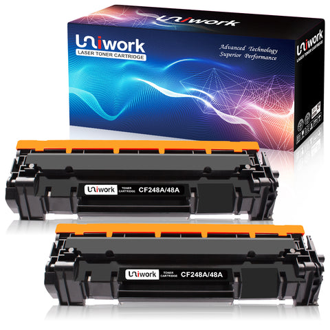 Uniwork Compatible Toner Cartridge Replacement for HP 48A CF248A use for Laserjet Pro M15w, Laserjet Pro M29w, MFP M28w, M28a, M29a M15a Printer, 2 Black
