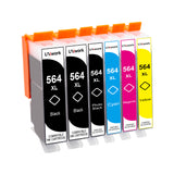 Uniwork Compatible Ink Cartridge Replacement for HP 564 564XL for Photosmart 7525 7520 7510 C309a C310a B8550 D5460 C6350 D7560 Printer (4BK/2PB/2C/2M/2Y), 12 Packs