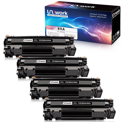 Uniwork 85A Compatible Toner Cartridge Replacement for HP 85A CE285A use for Laserjet Pro P1102W P1109W, Laserjet Pro MFP M1212NF M1217NFW Printer (4 Black)