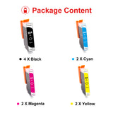 Uniwork Compatible Ink Cartridge Replacement for HP 564 564XL for Photosmart 6520 5520 4620 5510 C410a 6525 5514 OfficeJet 7510 4620 DeskJet 3522 Printer (4BK/2C/2M/2Y), 10 Packs
